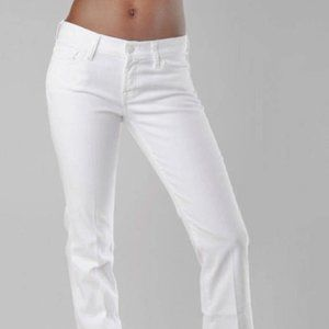 7 for all Mankind Bootcut Jeans in Clean White